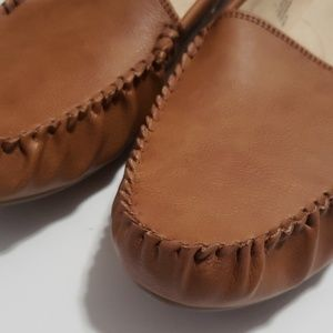 Shoes - NEW Tan Cognac Loafers Sz 11 Flats Slip Ons Shoes